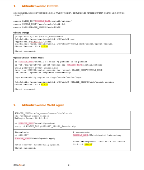 upgrade aktualizacja WLS12c 500x588 - Szkolenie Oracle WebLogic Server 12c - Administracja